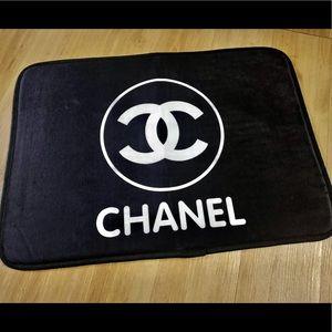 Chanel rug bath mat gift black